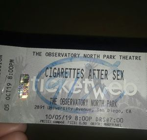 Cigarettes after sex concert tickets for Sale in Chula Vista, CA