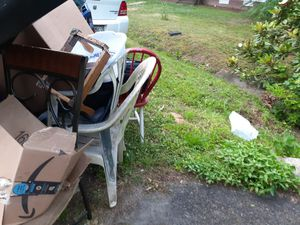 Free patio furniture 2 tables 4 chairs for Sale in North Chesterfield, VA