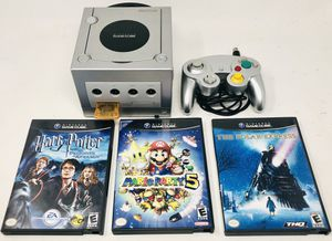 Nintendo GameCube Game Console Lot Mario Party 5 controller power a/v cord for Sale in Seattle, WA