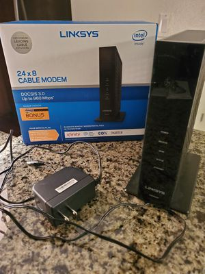 Linksys 24x8 cable modem for Sale in Garden Grove, CA