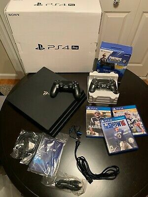 MINT - Sony PlayStation 4 Pro 1TB 4K Console - Jet Black - Bundle with 3 games for Sale in Ballinger, TX