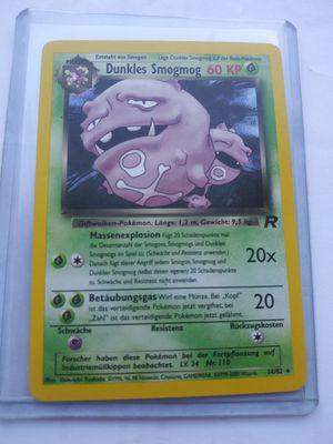 German dark wheezing holo rare pokemon card sale or trade read description please for Sale in Manteca, CA