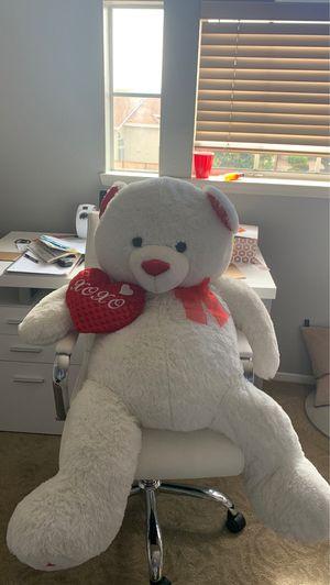 Giant plush valentine teddy bear for Sale in San Diego, CA