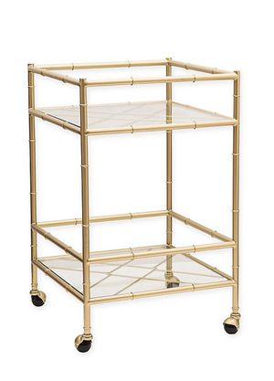 One Kings Lane Open House Huntley Bar Cart in Aged Gold for Sale in Charlotte, NC