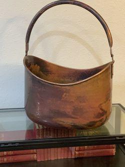 Hammered Metal Basket - Large for Sale in Kirkland,  WA