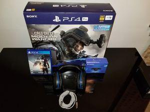 Playstation 4 Pro Modern Warfare bundle for Sale in Stickney, IL