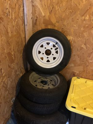 3 tires for trailer rings#12 5 holes for Sale in UNIVERSITY PA, MD