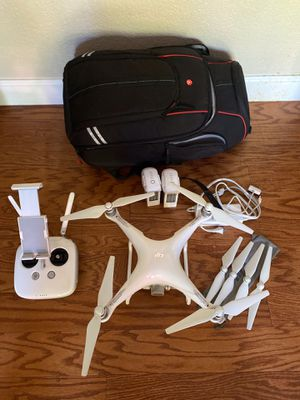 DJI Phantom 4 4K camera with backpack and extra accessories for Sale in Concord, CA