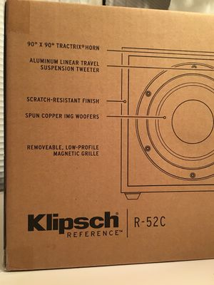 Klipsch R-52C Center Channel Speaker BRAND NEW for Sale in Chapel Hill, NC