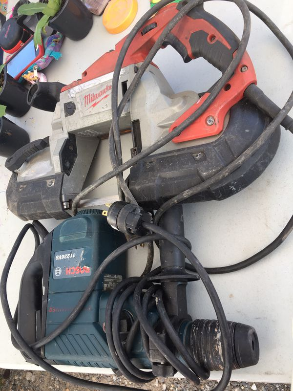 Bosh rotary hamer Drill and Millwaukee band saw good condition