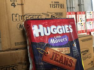 Huggies Jeans Diapers 3 4 5 for Sale in Gilroy, CA