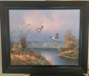 "Oil painting on canvas 24 x 20"" with decorative frame for Sale in Apex, NC"