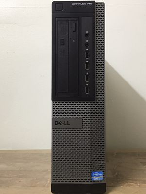 Slim tall DELL Optiplex 790 Core i7 Corei7 8GB RAM 128GB SSD Windows 10 dual display desktop computer for Sale in Pembroke Pines, FL