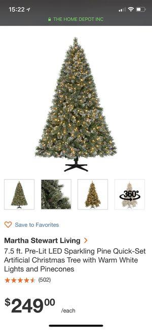 Martha living 7.5ft prelit Christmas tree for Sale in Bothell, WA