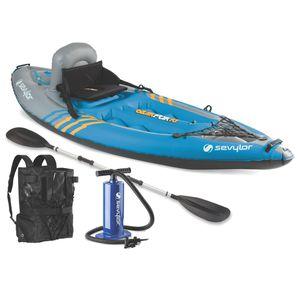 Sevylor Quikpak K1 One Person Kayak, Inflatable for Sale in Las Vegas, NV
