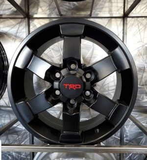 """$599 16"""" TRD style rims satin black in stock! No credit financing for Sale in Chandler, AZ"""