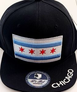 New ! Chicago Flag Theme Snap Back Hat. ( Flat Bill). for Sale in Chicago,  IL