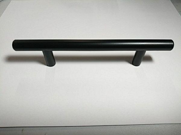 "Black matte 6-1/8"" SOLID Stainless Steel Kitchen cabinet Bar Handles (pulls)"