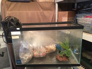 Fish aquarium and filter very new for Sale in Monrovia, CA