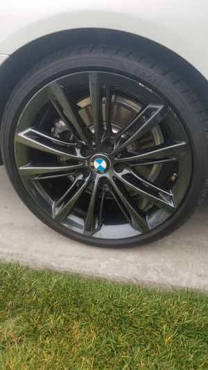 BMW black chrome wheels and tires for Sale in San Diego, CA