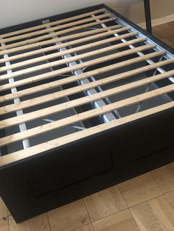Full sized IKEA Brimnes Bed With Storage - Black for Sale in New York,  NY