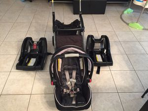 Baby car seat, stroller, and two bases for Sale in Sarasota, FL