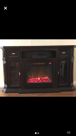 Tv stand with fireplace for Sale in Lakewood Township, NJ