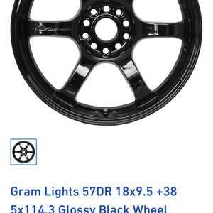 (ONLY ONE) Rays Gramlights 57DR 18x9.5 +38 Bolt Pattern for Sale in Des Plaines, IL