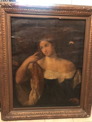 Women with a mirror by Titan (1512-15) for Sale in Arlington, VA