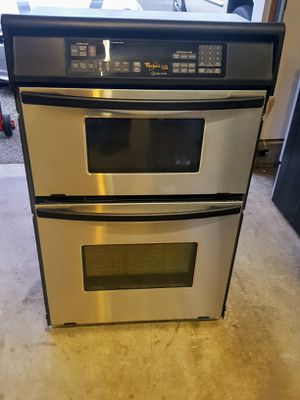 Whirlpool stainless steel wall oven / microwave combo for Sale in Lynnwood, WA