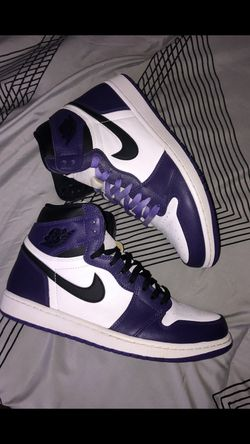 Jordan 1 Court Purple And Game Royal for Sale in Iowa City,  IA
