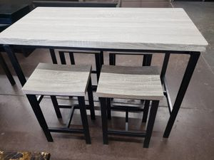 5pc counter height rectangular dinette set for Sale in North Highlands, CA