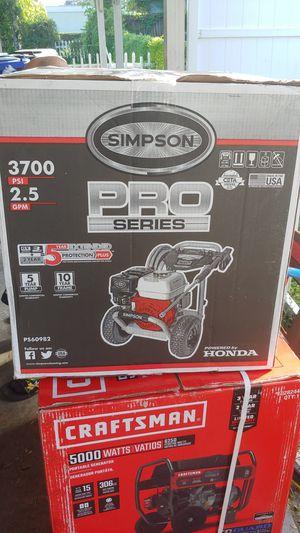 Simpson pro series pressure washer 3700 psi for Sale in Tampa, FL