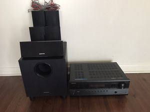 Onkyo Theater Systems- 5 speakers and sub with Amplifier for Sale in Altamonte Springs, FL
