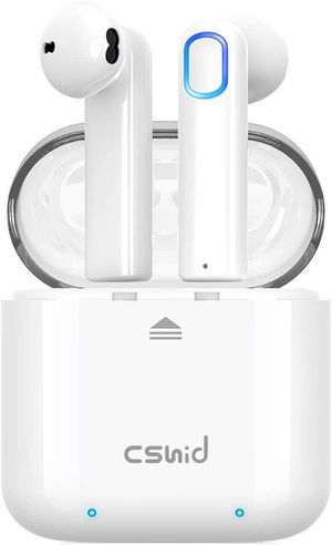 Cshidworld Bluetooth Wireless Earbuds Headphones Charging Case One-Step Pairing for Sale in Los Angeles, CA