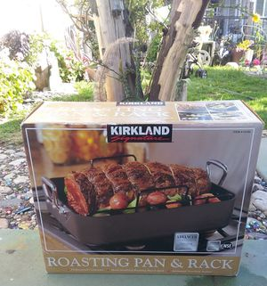 Kirkland Roasting Pan with Rack only $15 for Sale in Ontario, CA