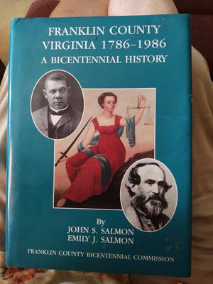 Franklin county, Virginia 1786-1986 for Sale in Fort Defiance, VA