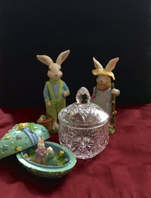 Easter decor (Greenbrier) and candy dish. for Sale in Menahga, MN