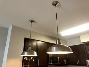 2 Pendant hanging dimmable lights with Edison bulbs - billiard style for Sale in Woodland Hills, CA