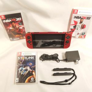 Nintendo Switch V2 + 3 games Charger + Joy Con Straps - Everything in pictures $265 for Sale in Elk Grove, CA