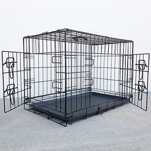 """Brand New $35 Folding 30"""" Dog Cage 2-Door Folding Pet Crate Kennel w/ Tray 30""""x18""""x20"""" for Sale in Whittier, CA"""