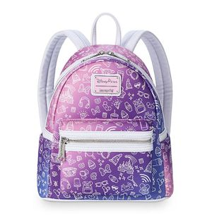 NEW Disney Parks Loungefly Ombre Pink Purple Backpack Park Icons Mini 2019 for Sale in Signal Hill, CA