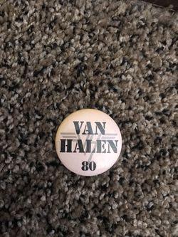 VAN HALEN 1980 TOUR BUTTON  for Sale in Rialto, CA