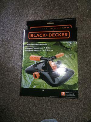 Black decker 3 arm sprinkler for Sale in Lithonia, GA