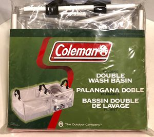 LOWER PRICE! Coleman Camp Sink, Portable Sink for Camping, Double Wash Basin Foldable. Condition is Like New for Sale in Brandon, MS