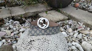 Gucci GG supreme canvas belt Blue for Sale in Orlando, FL