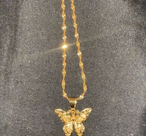 Gold butterfly necklace for Sale in Lilburn, GA
