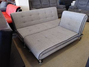 Grey Fabric Futon W/ Chaise for Sale in Phoenix, AZ