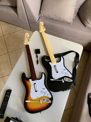 Rock Band Guitars + Dongle PS3 for Sale in Miami, FL