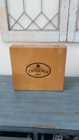 Twinings wood tea box for Sale in Lacey, WA
